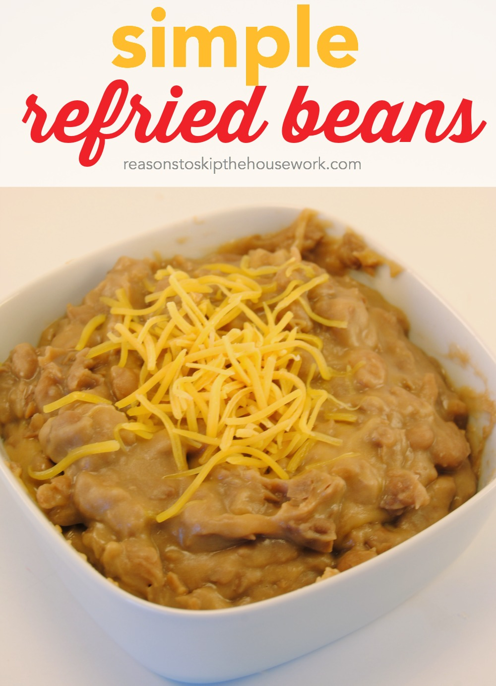 Refried Beans are simple to make and are perfect in burritos or as a ...