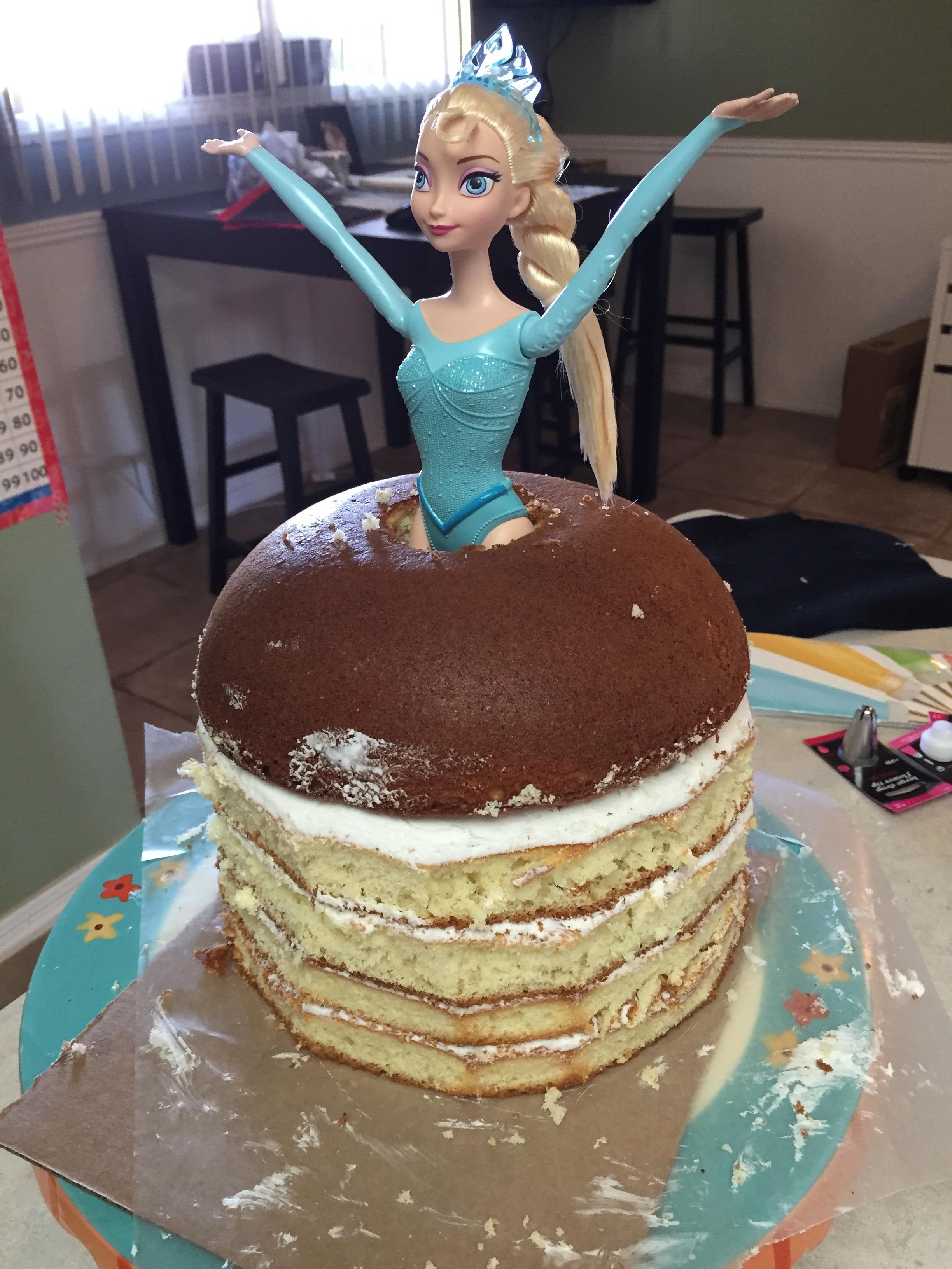 princess doll cake tutorial