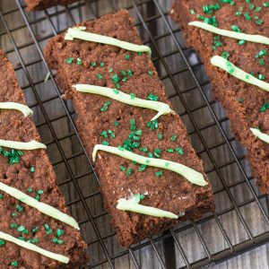 These Mint Chocolate Shortbread Fingers are super simple to make and will easily satisfy your cravings for a sweet treat! Cocoa powder makes them rich, peppermint makes them refreshing and plenty of butter makes them short - the perfect shortbread!