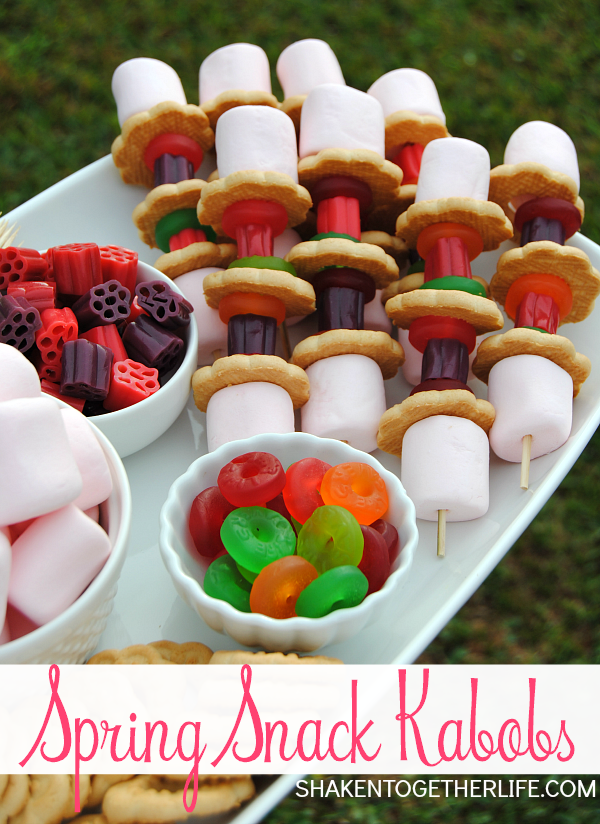 Spring Snack Kabobs are a fun {and tasty} activity for the kids!