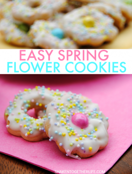 Easy Spring Flower Cookies from Shaken Together
