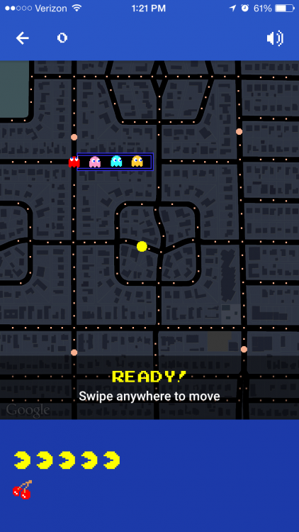 play pac man on google