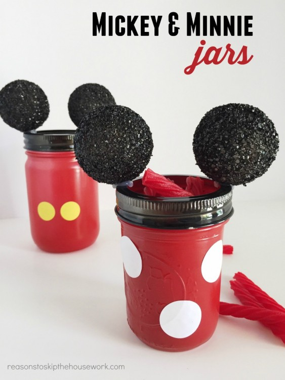mickey and minnie jars