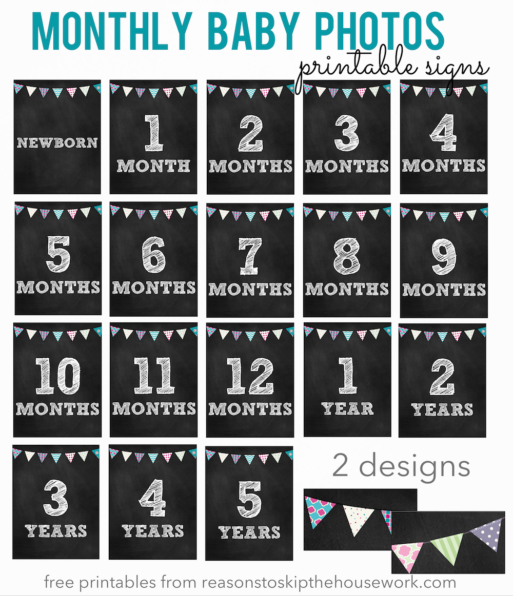 Epic image intended for free printable baby month signs