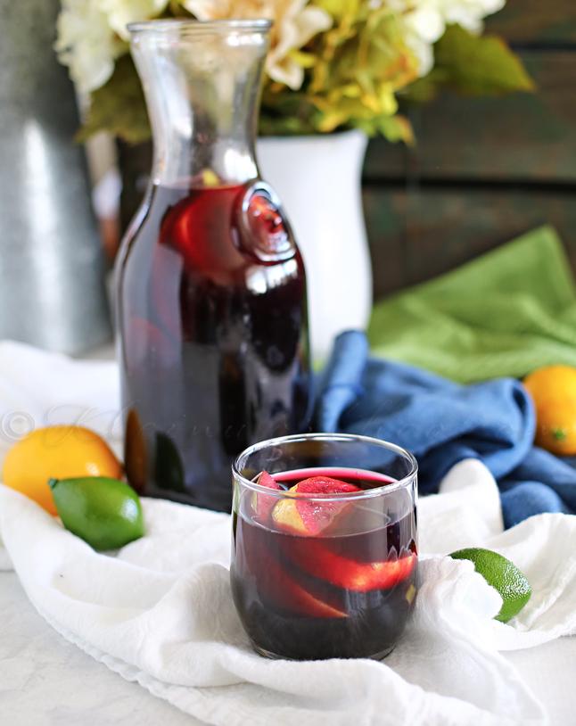 Blueberry Sangria Mocktail