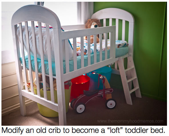 crib to loft bed