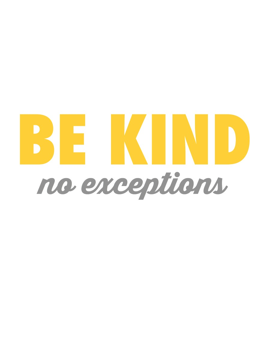 be kind white featured