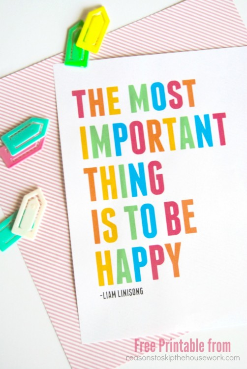 the most important thing is to be happy