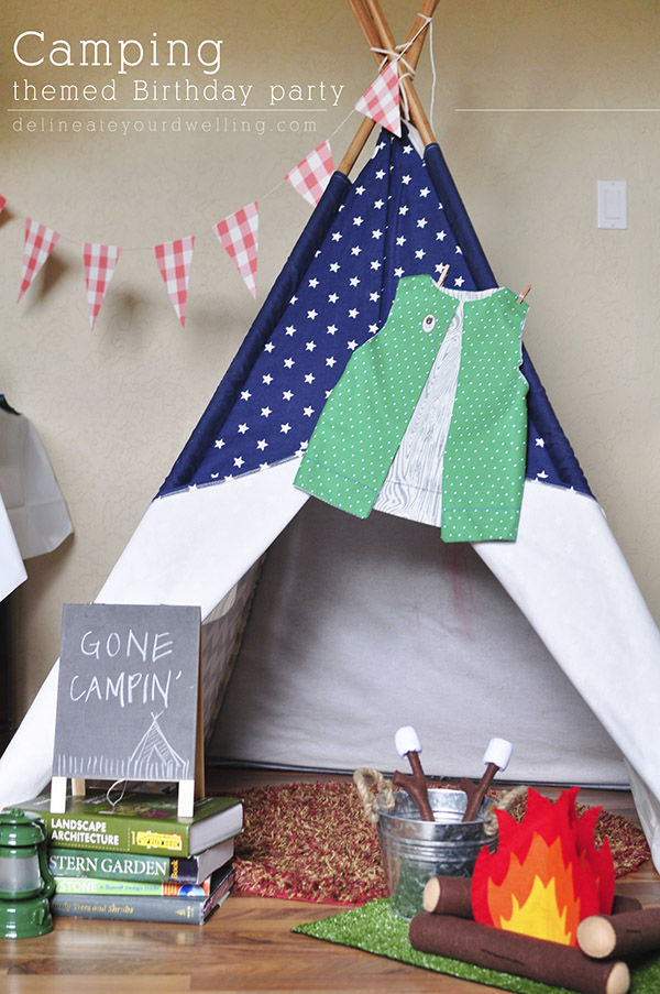 Camping-themed-bday-party