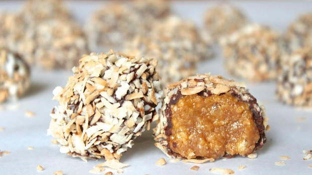 """alt=""""Samoa Truffles in foreground, faded ones in  background"""""""