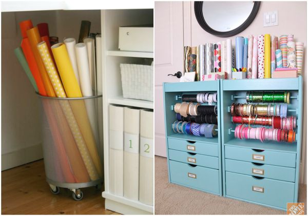 Awesome Gift Wrap Organization