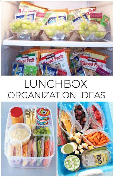 lunchbox organization ideas