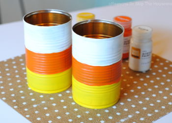 Candy Corn Treat Cans are the perfect way to package up treats for teachers and friends for Halloween!