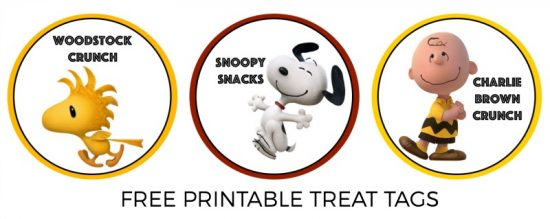 peanuts treat tags