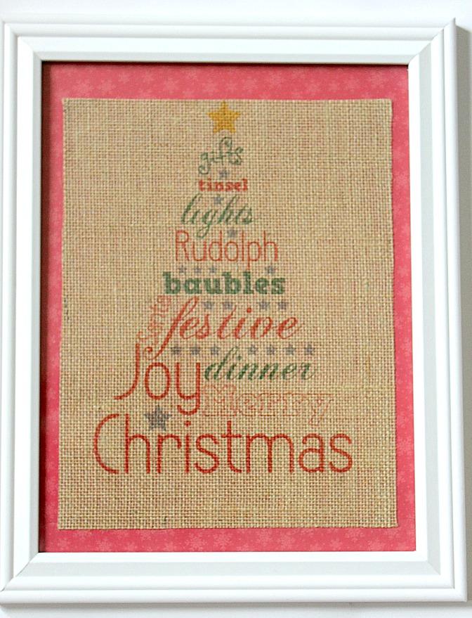 Christmas Tree Word Art 2