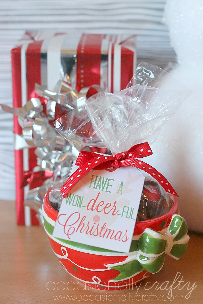 Rudolph Nose Treats and Gift Tag Printable