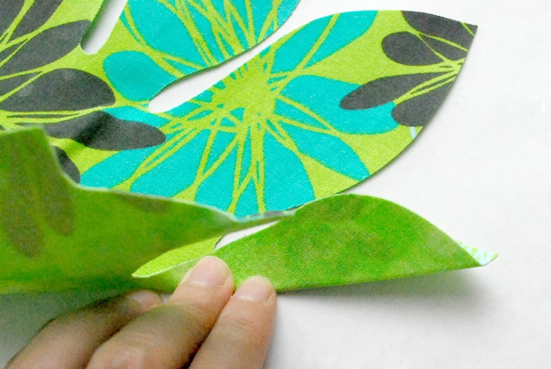 No Sew Fabric Palm Leaf 8