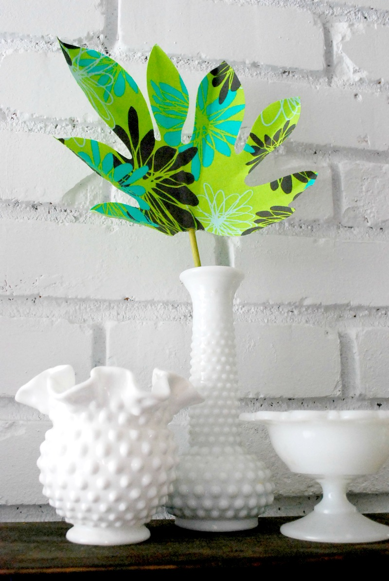 No Sew Fabric Palm Leaf -- The Silly Pearl for Reasons to Skip the Housework