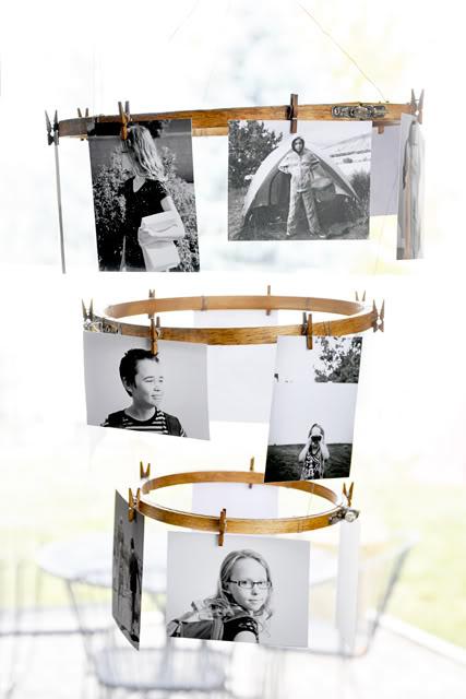 embroidery Hoop Photo Display