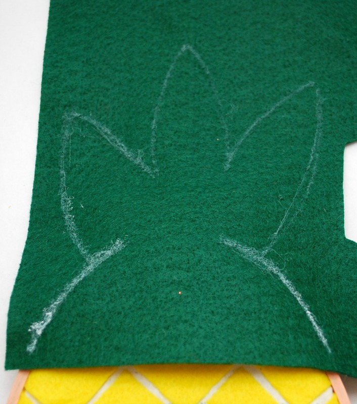 Top of your Embroidery Hoop Pineapple