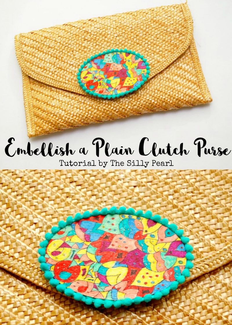 Embellish a Plain Clutch Purse - The Silly Pearl for Reasons to Skip the Housework
