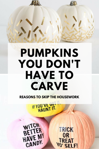 There are so many Pumpkin Carving Alternatives, and they're all so darn pretty!