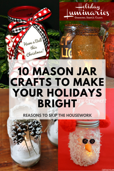 Mason Jar Crafts: The holidays are here and there are so many different gift and decor ideas to bring lots of cheer! There are so many Mason Jar Crafts to make this holiday!