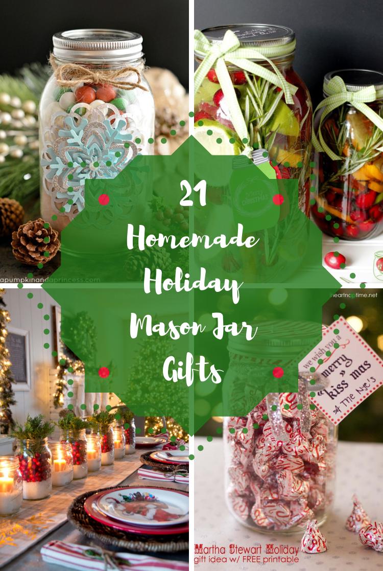 21 Homemade Holiday Mason Jar Gifts