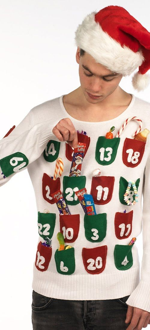 Advent Calendar Sweater: If you are attending an ugly Christmas sweater party this year, we have got you covered! Here are 25 Ugly Christmas Sweater Ideas for you to use as inspiration.