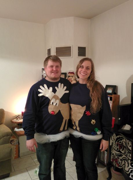 Couple Sweaters: If you are attending an ugly Christmas sweater party this year, we have got you covered! Here are 25 Ugly Christmas Sweater Ideas for you to use as inspiration.