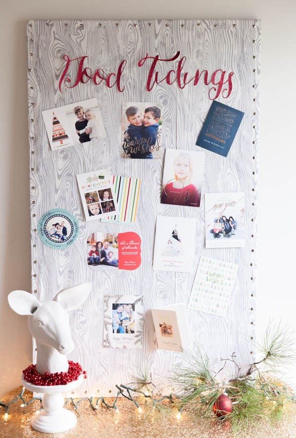 diy-christmas-card-display-pin-board