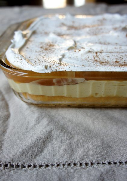 Eggnog Poke Cake: Eggnog is a favorite seasonal drink, but there are so many ways to bake with eggnog!