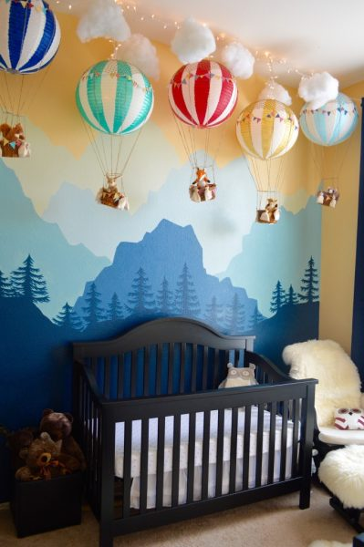 Flying High: Boy Nursery Ideas: From narrowing down the boy nursery ideas to painting the walls, there are a lot of ways you can uniquely design the room for your new baby.