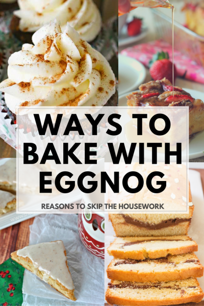 Eggnog is a favorite seasonal drink, but there are so many ways to to get creative baking with eggnog! Here are 25 Eggnog Recipes to bake with your favorite holiday drink.