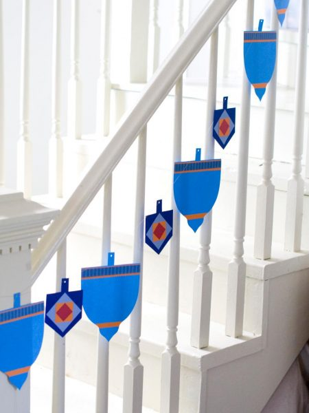 Dreidel Garland: Make your own Hanukkah crafts or get the whole family involved with one of these 10 Hanukkah Crafts