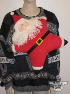 Santa Claus Sweater: If you are attending an ugly Christmas sweater party this year, we have got you covered! Here are 25 Ugly Christmas Sweater Ideas for you to use as inspiration.