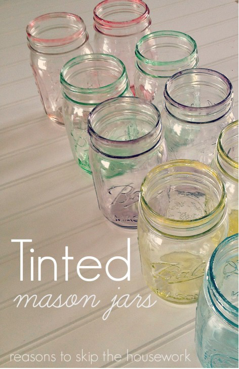 Tinted Mason Jars: The holidays are here and there are so many different gift and decor ideas to bring lots of cheer! There are so many Mason Jar Crafts to make this holiday!