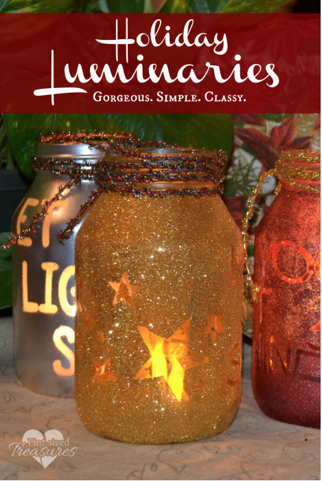 Holiday Luminaries: The holidays are here and there are so many different gift and decor ideas to bring lots of cheer! There are so many Mason Jar Crafts to make this holiday!