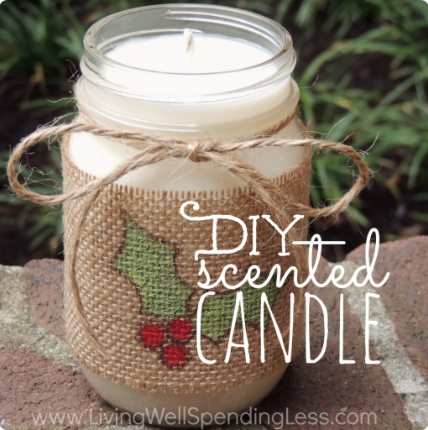 DIY Scented candle: The holidays are here and there are so many different gift and decor ideas to bring lots of cheer! There are so many Mason Jar Crafts to make this holiday!