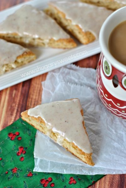 Eggnog Scones: Eggnog is a favorite seasonal drink, but there are so many ways to bake with eggnog!