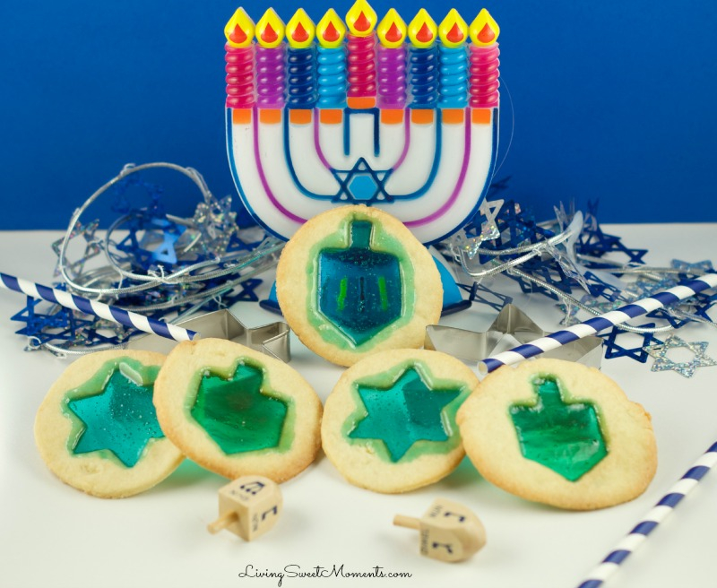 Stained Glass Cookies: Hanukkah Treats: Whip up one of these traditional treats to celebrate Hanukkah.