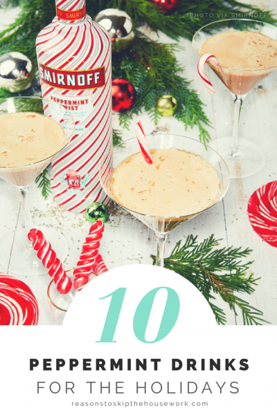 Peppermint Drink Recipes to help get you through the holiday season! Peppermint is December's Pumpkin!