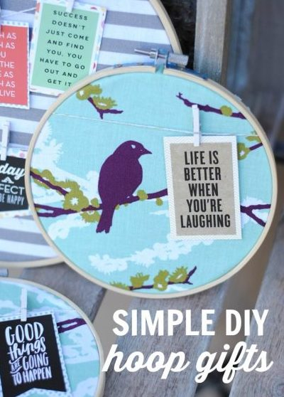 Hoop Quote Gifts are simple and easy craft that you can make for yourself or gift to friends.