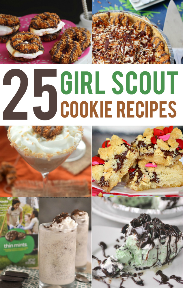 Recipes using Girl Scout Cookies - because there are so many other ways to use up the girl scout cookies!