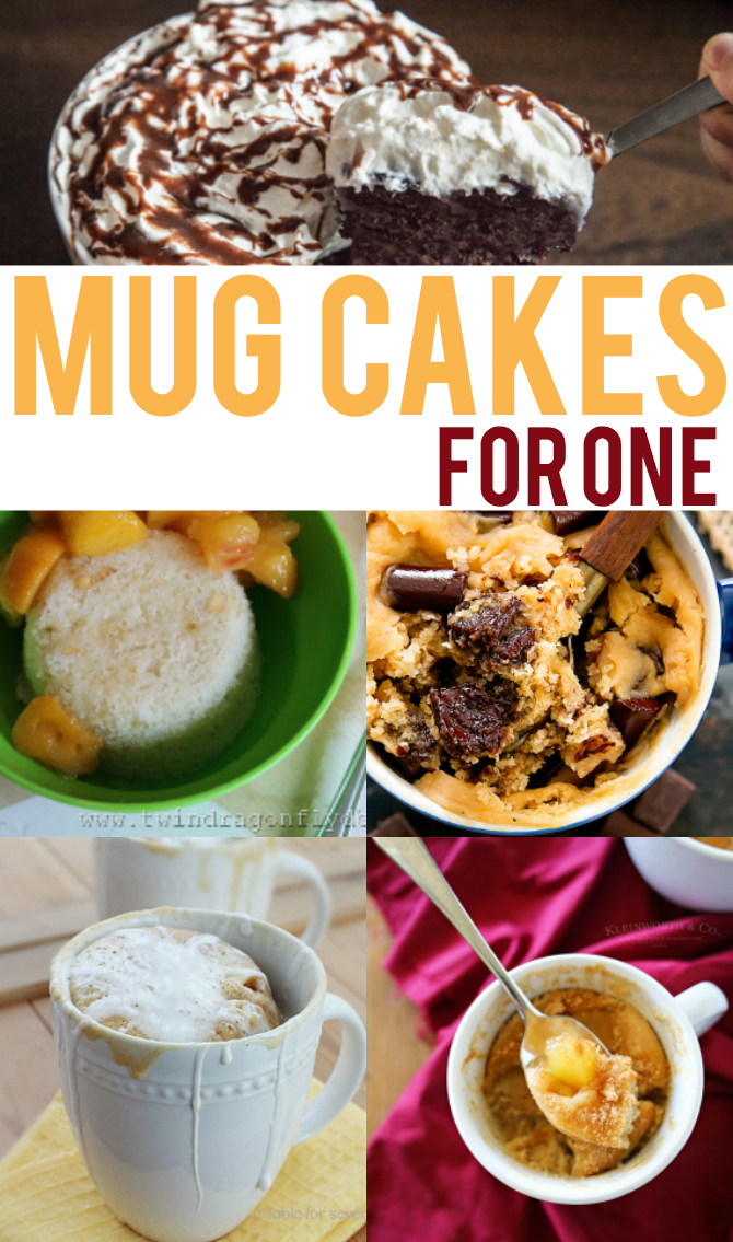 Mug Cakes you can make just for yourself, in a matter of minutes!  No more huge cake sitting on the counter!