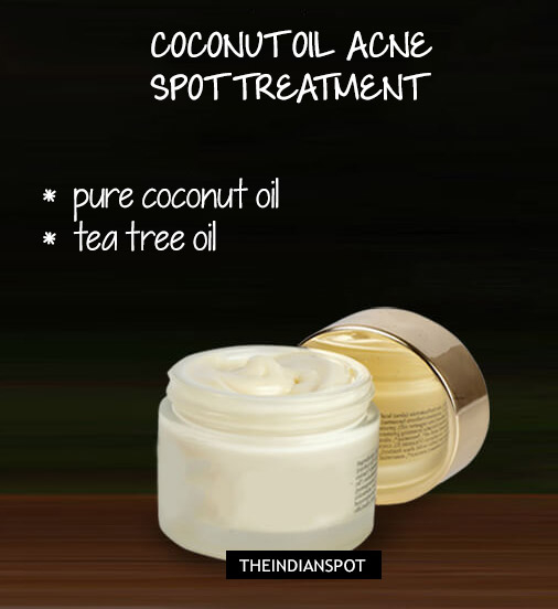 Ways To Use Coconut Oil - Spot Acne Treatment