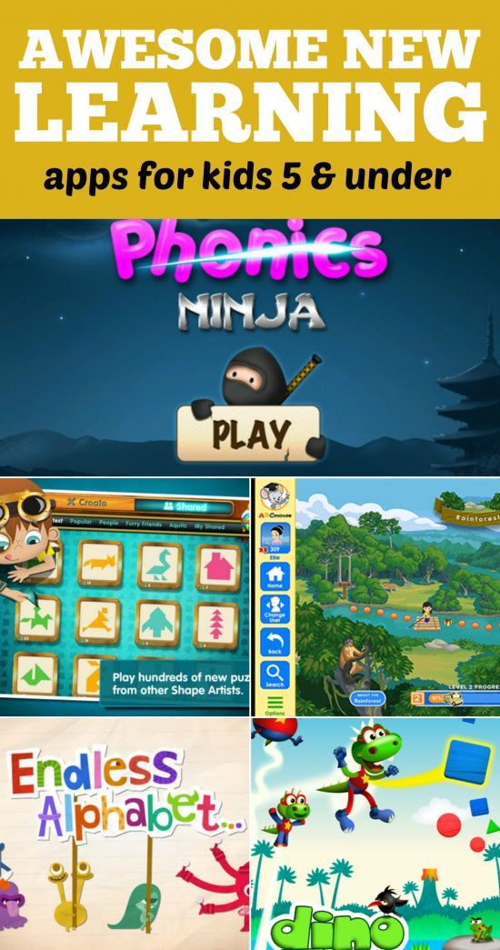 Learning Apps for Kids 5 and Under