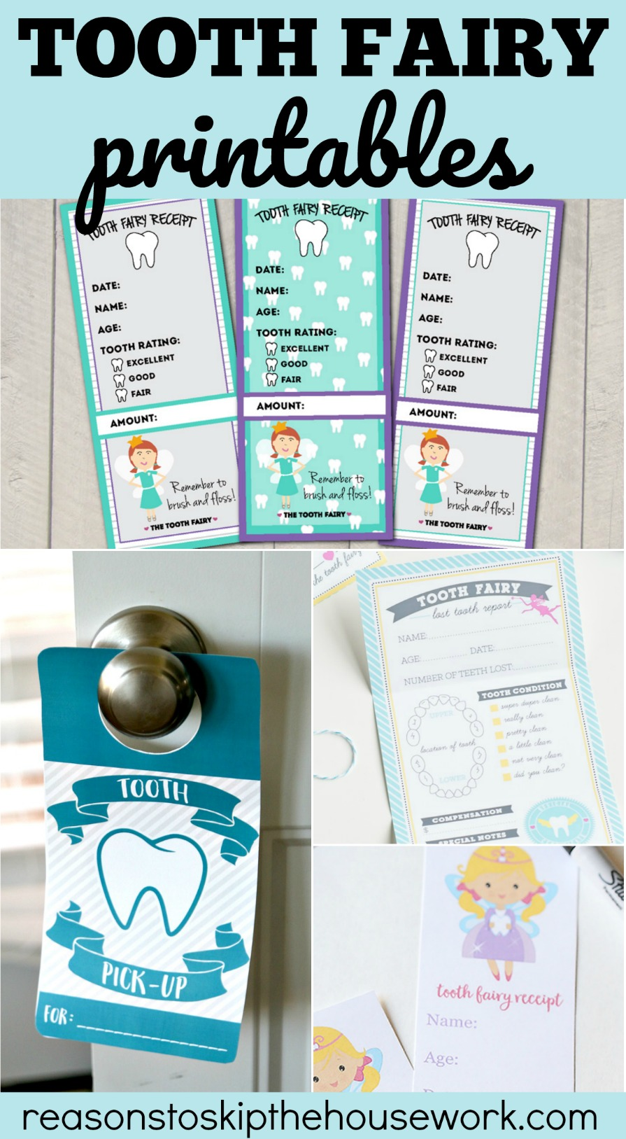 Tooth Fairy Printables that help you create the perfect family tradition!