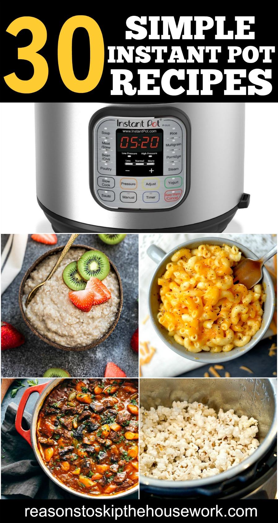 Instant Pot Recipes are the perfect solution for weeknight meals. If you don't own an Instant Pot yet, you truly are missing out!