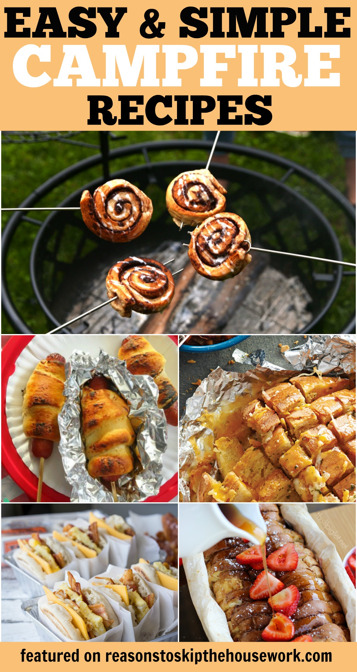 Camping Recipes that are simple, easy to pack, and delicious!  You'll want these for your next camping trip!
